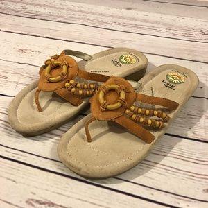 Earth Shoe Sandals Size 8 Leather Logan